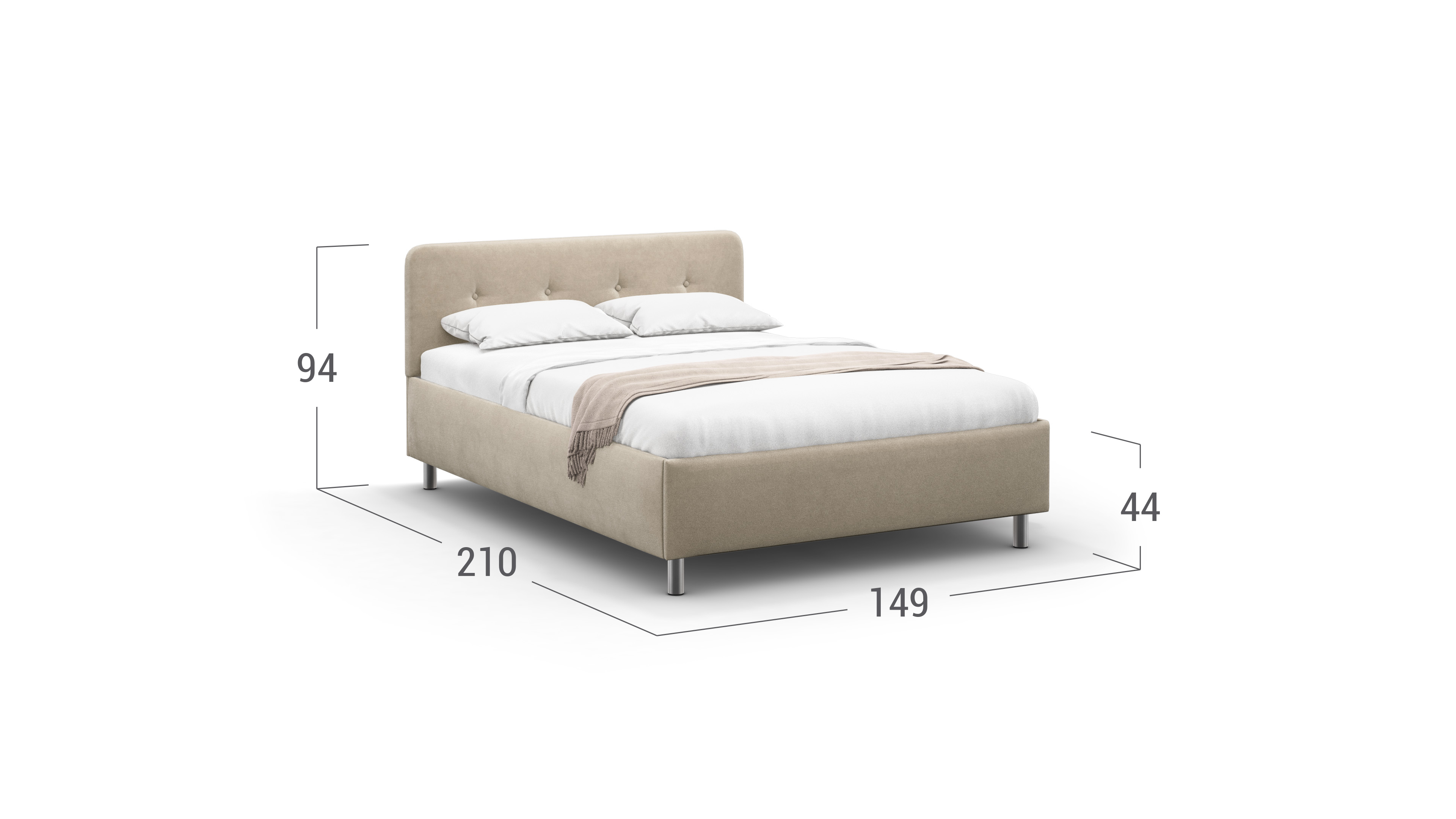 Кровать двуспальная Aiko New 140х200 Модель 1232